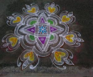 Rangoli for Inviting God to my house