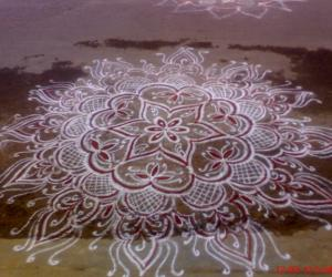 Rangoli: A special freehand rangoli for a special day