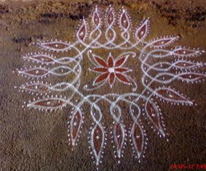 As usual my friends rangoli which attracted me......
