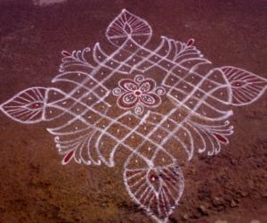 Rangoli: My friend's  rangoli