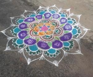 Rangoli: New year rangoli