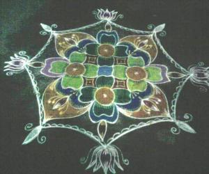 Rangoli to invite Lord Venkatesha on Vikunta Ekadashi