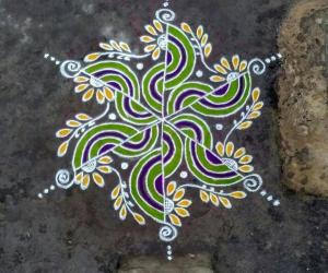 Rangoli: Happy Bhoghi