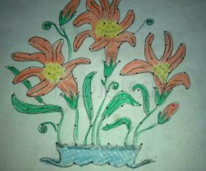 Rangoli: Draft Kolam on Paper