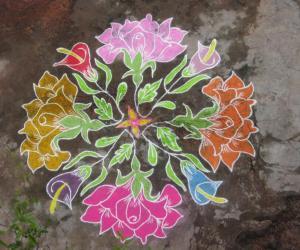 Rangoli: Roses