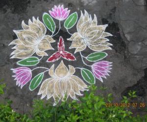 Rangoli: LOTUS