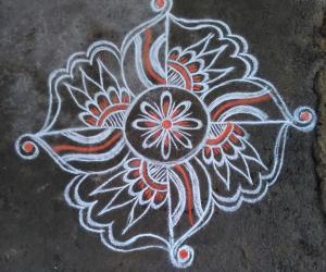 Rangoli: symmetrical patterns