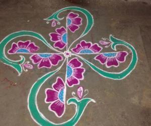 Rangoli: Flower