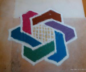 Rangoli: Daily kolam-Apartment