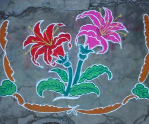 Rangoli: flower kolam
