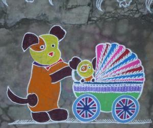 Pet Dog Kolam
