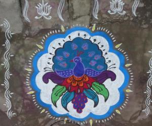 Rangoli: Peacock - Pongal Special