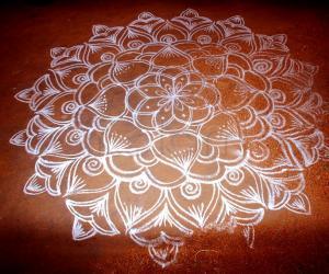 Simple Rangoli on floor