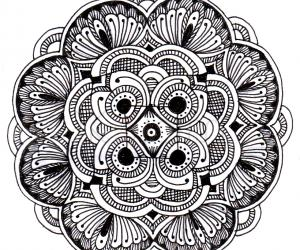 Black & white Simple rangoli