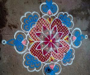 Rangoli: dotted one