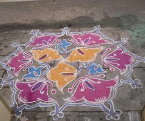 Rangoli: Kolam on Bhogi day