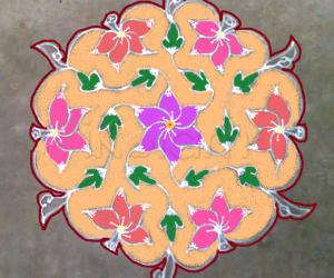 Rangoli: Margazhi kolam day2