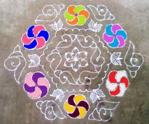 Rangoli: MARGAZHI KOLAM day5