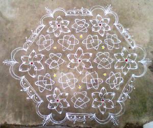 Rangoli: Margazhi kolam day7