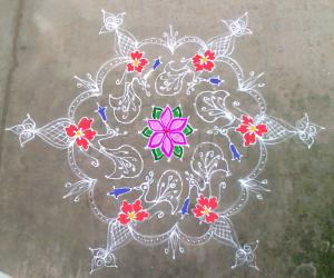 Rangoli: Margazhi kolam 16