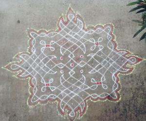 Rangoli: Margazhi day 15 - Adieu to 2015