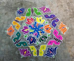 Rangoli: My first Kolam for iKolam :)