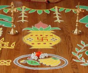 Rangoli: Tamil New Year/Ugadhi Rangoli