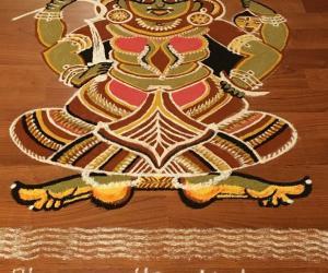 Bhagavathy Kalam ( Kerala Temple art )