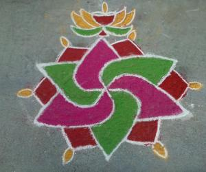 Color Kolam by Amudha Giri