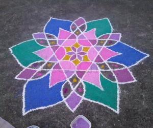 Rangoli: Flowery stars