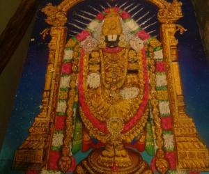 Rangoli: lord vengatajalapathi
