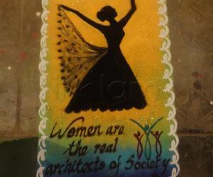 Rangoli: women's Day