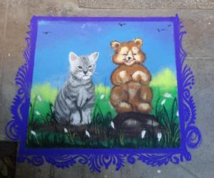 Rangoli: cat