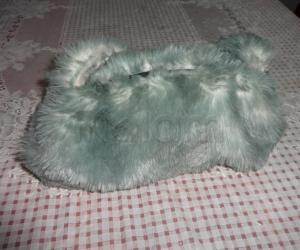 hand bag  with furcloth
