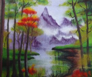 scenery rangoli