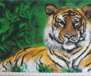 Rangoli: tiger