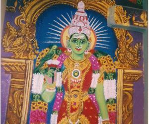Rangoli: Goddess Meenakshi