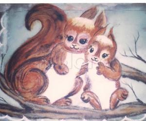 Rangoli: squirrel