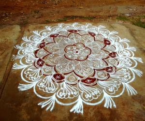 Rangoli: Friendship day rangoli