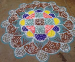 Rangoli: Navarathri Rangoli Day 5 - 2015