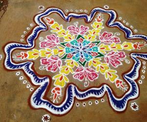 Rangoli: Tamil new year rangoli
