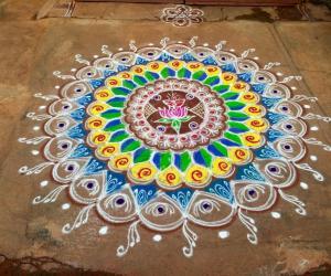 Navarathri rangoli Day 10 - 2015