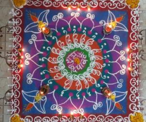 Rangoli: HAPPY DIWALI 2015