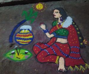 Rangoli: Pongal kolam