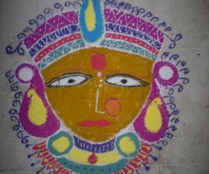 Rangoli: Navaratri Day 1 rangoli