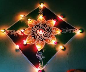Diwali Rangoli contest 2014