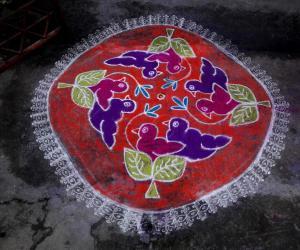 Rangoli: MARGAZHI KOLAM   18TH DAY    02-01-2017