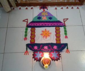 Rangoli: Ratha Saptami - Free Hand