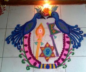 Rangoli: Panguni Uthram Kolam
