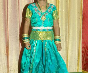 My Daughter in Lengha Blouse Costume